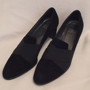 Stuart Weitzman black suede shoes